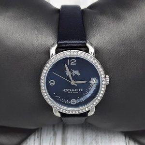 Coach Delancey Crystal Accent Watch - Navy